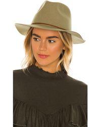 Brixton Шляпа Федора Wesley В Цвете Cedar Green - Зеленый