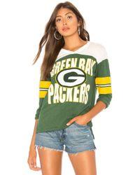 Junk Food - Nfl Packers Throwback Tee In Green - Lyst