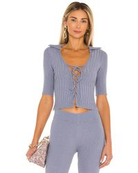 Song of Style Charli Top - Blue