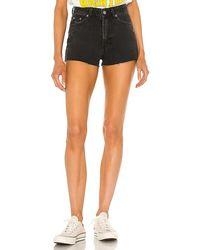Dr. Denim Skye Shorts In Black. Size 25, 26, 27, 28, 29, 30.