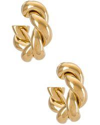 Joolz by Martha Calvo Серьги-кольца Rope В Цвете Золотой - Металлик