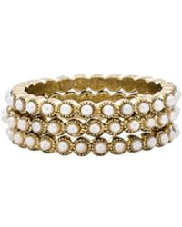 Luv Aj - Bezel Pearl Ring Set - Lyst