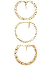 Natalie B. Jewelry - Tre Catena Bracelet In Metallic Gold. - Lyst