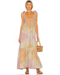 Juliet Dunn V Neck Maxi Dress - Multicolor