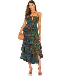 Ulla Johnson Вечернее Платье Zenat В Цвете Изумрудный - Зеленый