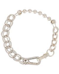 Heron Preston Ожерелье В Цвете Серебряный - Металлик