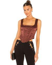 Miaou Campbell corset - Marrón