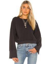 Spiritual Gangster Malia Wide Sleeve Crew Sweatshirt - Black