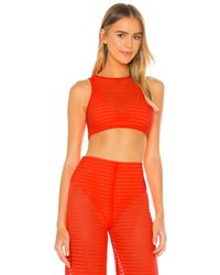 h:ours Vita Crop Top - Orange
