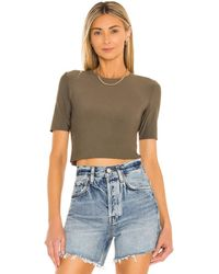 Commando Butter Cropped Tee - Green