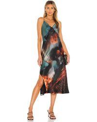AllSaints Melody Epiphany Dress. Size 0, 2, 6. - Blau