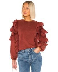 Tularosa Cat Ruffle Sweater - Rot