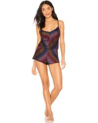 Only Hearts - Riley Chevron Romper In Pink - Lyst