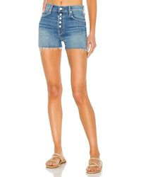 Mother The Pixie Dazzler Short Fray - Blue
