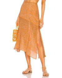 Suboo Sienna Midi Skirt - Orange