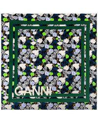 Ganni スカーフ - グリーン