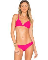 d40fa02a8fbcd Lyst - Beach riot Mesa Bikini Top - Crimson in Purple