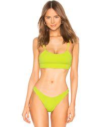 Beach Bunny - X Revolve Rib Tide Bralette In Green - Lyst