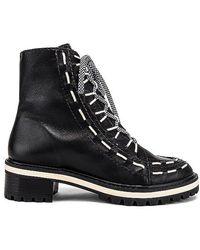 Schutz Sylvie Lace Up Boot - Black