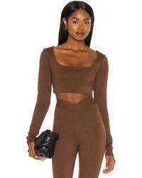 LPA Топ Nora В Цвете Chocolate Brown - Коричневый