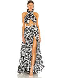 Bronx and Banco Платье Zebra В Цвете Белый & Черный. Размер Xs (также В S, M, L).