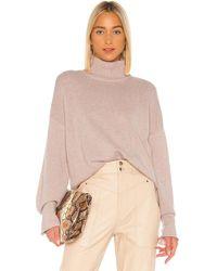 Autumn Cashmere Boxy Mock Neck Sweater - Pink