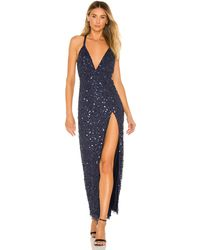 Nbd Paloma Embellished Gown - Blue