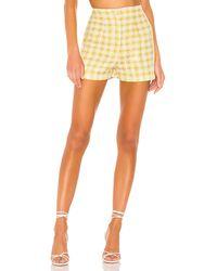 Nbd Bergette High Waist Shorts - Yellow