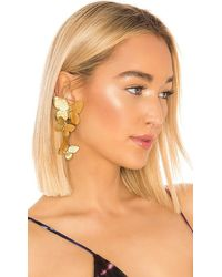 Jennifer Behr Alessandra Clip On Earrings - Metallic