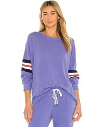 Sundry - 3 Color Stripe Sweatshirt - Lyst