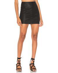 Free People Modern Femme Vegan Mini Skirt - Black