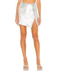 superdown Ember Chain Mini Skirt - Metallic
