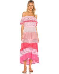 lemlem Макси Платье Eshal В Цвете Deep Pink - Pink. Размер L (также В Xs). - Розовый