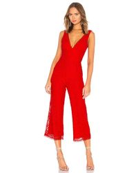 Lovers + Friends - Kenneth Jumpsuit In Red - Lyst