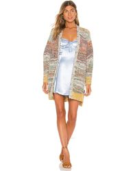 Free People Dreaming Again Cardi - Blau
