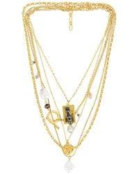 Amber Sceats Layered Necklace - Mettallic