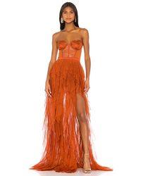 For Love & Lemons X Revolve Bustier Gown - Orange