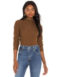 Theory Seamless Cashmere Turtleneck - Brown