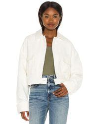 Anine Bing Куртка Adriana В Цвете Светло-бежевый - Белый