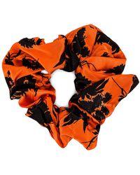Ganni Silk Scrunchie В Цвете Пламя - Оранжевый