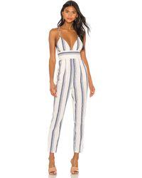 superdown Evaline Stripe Jumpsuit - Weiß