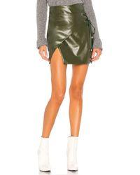 MAJORELLE Hyperion Mini Skirt - Green