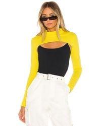superdown Gina Shrug Top - Yellow