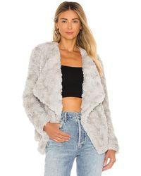 BB Dakota Come Cozy Faux Fur Jacket - Grau