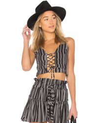 Blue Life - Lace Me Up Crop Top - Lyst