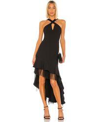 BCBGMAXAZRIA Hi Low Cocktail Dress - Black