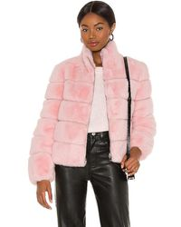 Generation Love Jodi Faux Fur Jacket - Pink