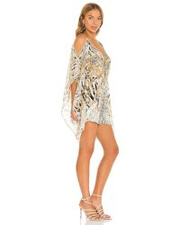 Camilla Scarf Side Playsuit - White
