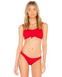 Beth Richards - Naomi Bikini Bottom In Red - Lyst