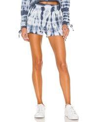 Chaser Cashmere Fleece Lace Up Shorts - Blau
